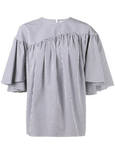 stripe gathered blouse  A.W.A.K.E. Awake