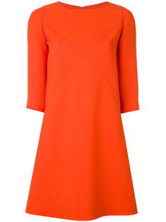 короткое платье с Х-образной отделкой Courrèges