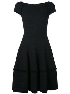 frayed trim shift dress Talbot Runhof