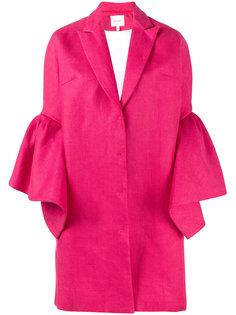 однобортное пальто с расклешенными рукавами Delpozo