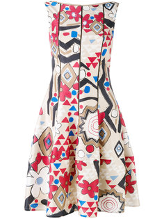 geometric print dress Talbot Runhof