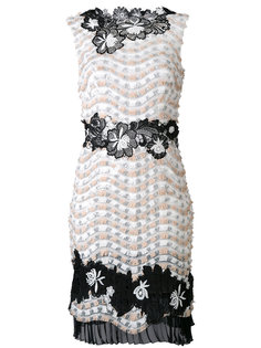 embellished floral shift dress Talbot Runhof
