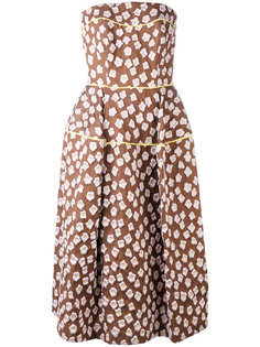 patterned bandeau dress Talbot Runhof