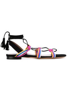 сандалии с завязками на щиколотке Tabitha Simmons