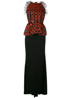 embellished peplum gown Talbot Runhof