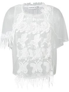 прозрачная вышитая блуза Tsumori Chisato