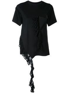 crochet frill pocket T-shirt Irene