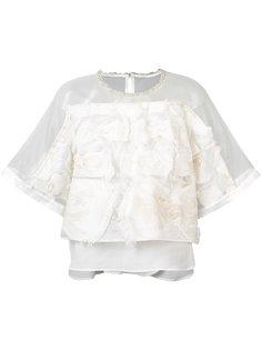 вышитая блуза с прозрачными панелями Tsumori Chisato