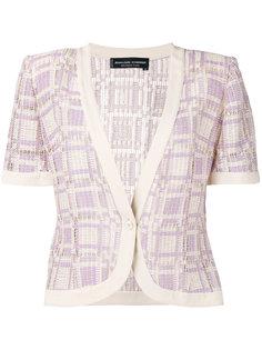 checkered knit jacket Jean Louis Scherrer Vintage