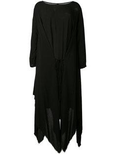 асимметричное платье с необработанными краями Poème Bohémien