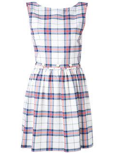 расклешенное платье в клетку Maison Kitsuné