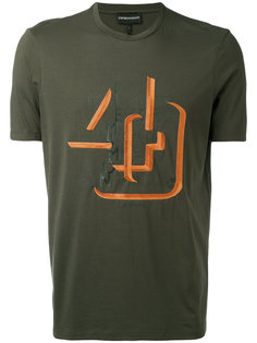 футболка с принтом-логотипом Emporio Armani