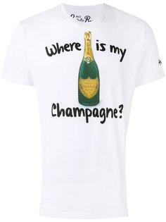 футболка с принтом шампанского Mc2 Saint Barth