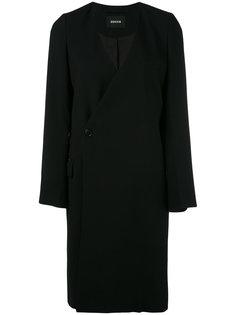 пальто с глубоким V-образным вырезом Zucca