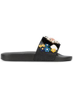 сандалии с цветочными элементами Dolce & Gabbana