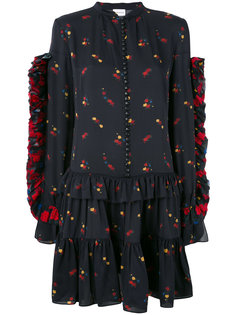 ruffled buttoned floral dress Magda Butrym