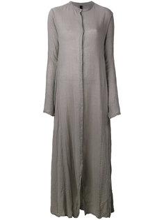 длинное платье-рубашка с воротником-стойкой Poème Bohémien