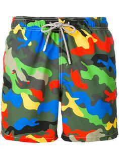 камуфляжные шорты для плавания Mc2 Saint Barth