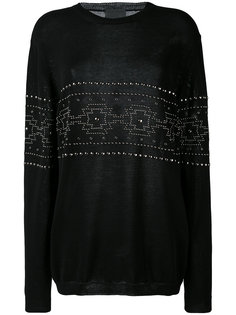 studded pattern sweatshirt Laneus
