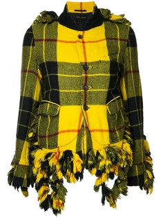 пиджак в клетку с бахромой Comme Des Garçons Vintage