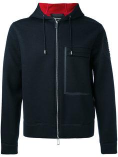 boxy zip hoodie Emporio Armani