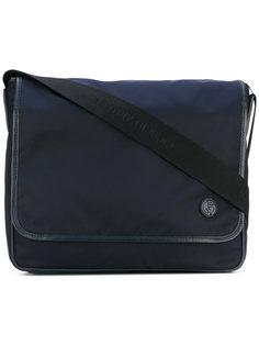 сумка-почтальонка с нашивкой логотипа Giorgio Armani