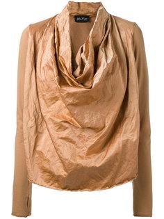 draped front sweatshirt Andrea Yaaqov