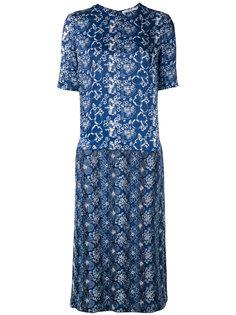 джинсовое платье с графическим принтом Julien David