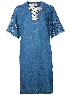 lace front shift dress Muveil