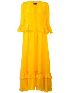 ruffled detail maxi dress Rossella Jardini