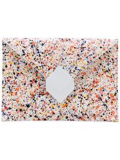 клатч с принтом брызг краски Pierre Hardy