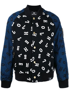 embroidered letter bomber jacket  House Of Holland