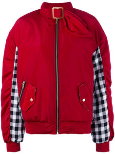 gingham panel bomber jacket  House Of Holland