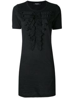 прилегающее платье с нашивками Dsquared2