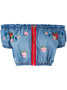 embroidered crop top  House Of Holland