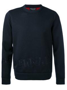 logo embossed sweatshirt Emporio Armani