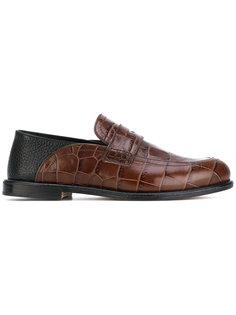 crocodile effect penny loafers Loewe