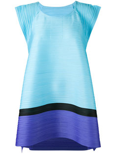 contrast hem top Pleats Please By Issey Miyake