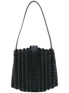 сумка на плечо с текстурой кольчуги Paco Rabanne