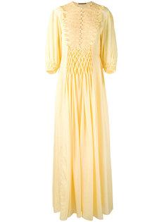 длинное платье с вышивкой Ermanno Scervino