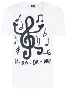 футболка с принтом музыкальных нот Ps By Paul Smith