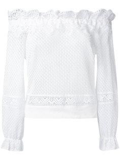 кружевная блузка с открытыми плечами Alberta Ferretti