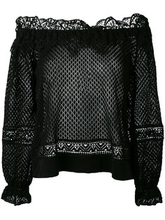 ажурный свитер с открытыми плечами Alberta Ferretti