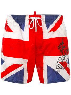 шорты для плавания Union Jack Dsquared2