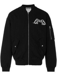 куртка-бомбер с логотипом сзади Moschino