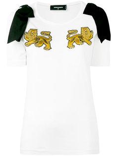 футболка с вышивкой львов Dsquared2