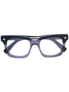 очки в прямоугольной оправе в стиле колор-блок Dsquared2