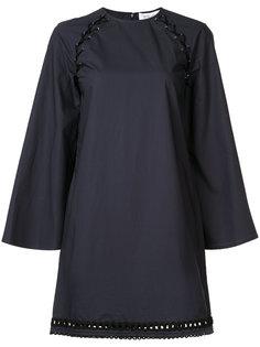 платье шифт со шнуровкой на плечах Derek Lam 10 Crosby