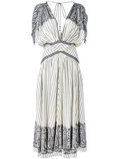 полосатое платье длины миди Etro
