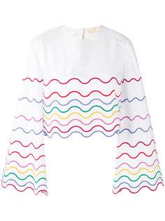 блузка с волнистой вышивкой Sara Battaglia
